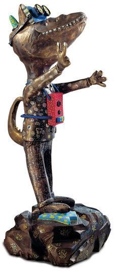 """Andora: Skulptur """"Dr. Pop"""", Version in Bronze"""