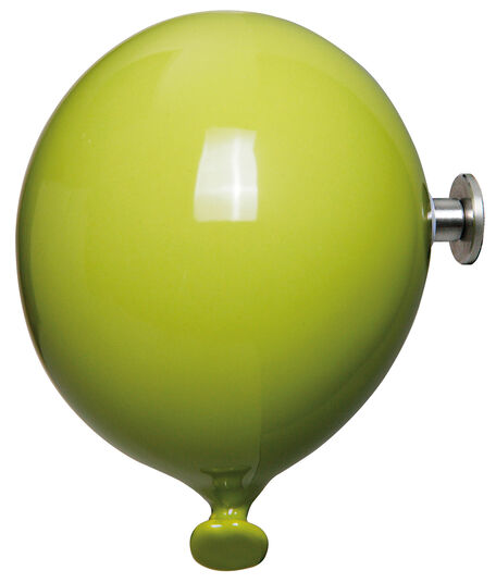 """Kleiderhaken / Wandobjekt """"Mini Balloon grün"""", Keramik"""