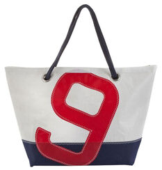 "Maritime Sailcloth-Bag ""Sailbag Carla"", The Blue and Red Version"