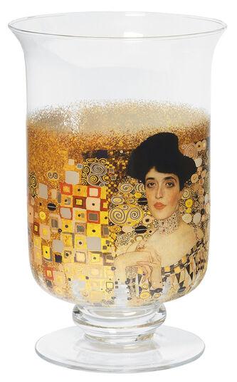 """Gustav Klimt: Windlicht / Vase """"Adele Bloch-Bauer"""", Glas"""