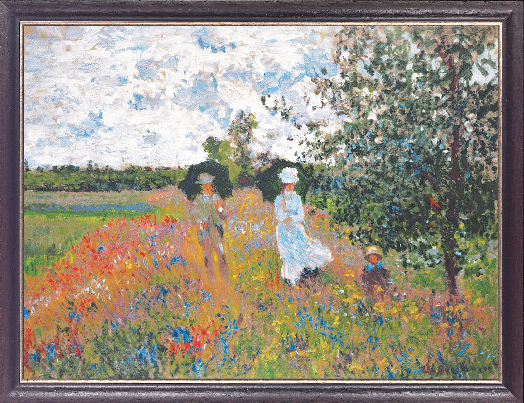 claude monet bild promenade bei argenteuil 1873. Black Bedroom Furniture Sets. Home Design Ideas