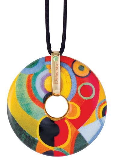 "Robert Delaunay: Porzellan-Anhänger ""Lebensfreude"" mit Stoffband"