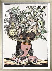 """Bild """"Africa"""" - aus Bildfolge """"Fünf Kontinente"""", gerahmt"""