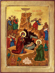 "Bild ""Die Geburt Christi"", gerahmt"