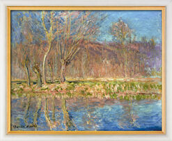 """Painting """"Trees on The Bank, Spring in Giverny"""" (1885), Framed"""