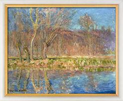 "Bild ""Bäume am Ufer, Frühling in Giverny"" (1885), gerahmt"