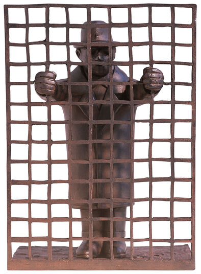 "Siegfried Neuenhausen: ""Man with Fence"""