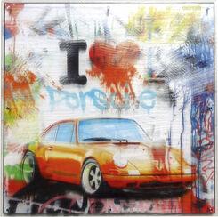 """Bild """"I Love Porsche (groß)"""" (2017)"""