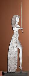 Sculpture 'Circe', metal casting