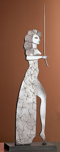 Paul Wunderlich: Sculpture 'Circe', metal casting