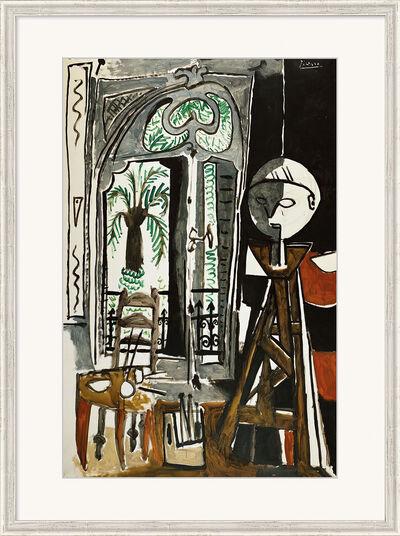 "Pablo Picasso: Bild ""Das Atelier"" (1955), gerahmt"