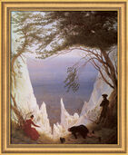 "Art print ""Chalk Cliffs on Rugen"" (1818), framed"