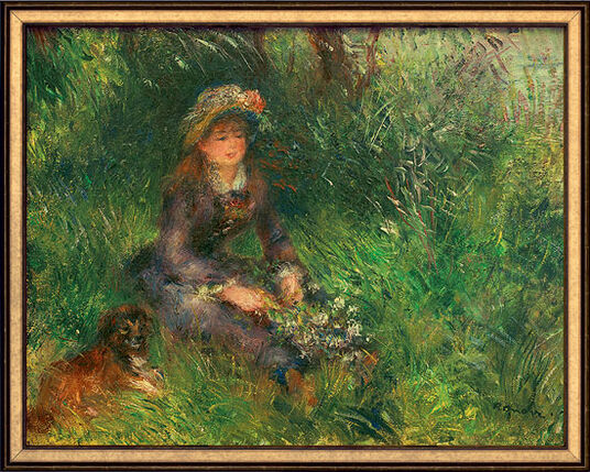 auguste renoir bild aline charigot mit hund 1880. Black Bedroom Furniture Sets. Home Design Ideas