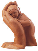 "Sculpture ""Stay his child"" (1963), cast stone, edition"
