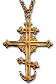 "Gilded necklace ""St. Petersburg Cross"", 925 Sterling silver"