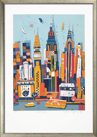 "Gerhard Hofmann: Bild ""New York"", gerahmt"
