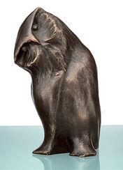 "Skulptur ""Neugierige Eule"" (2010), Bronze"
