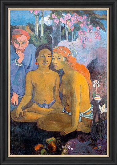 """Paul Gauguin: Bild """"Contes Barbares - Barbarische Erzählung"""" (1902), gerahmt"""