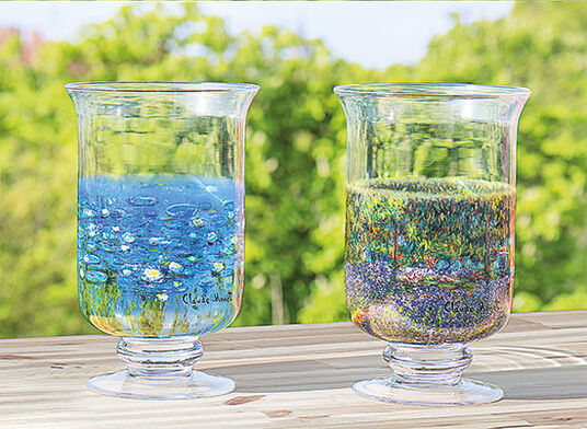 Claude Monet: 2 Windlichter / Vasen mit Künstlermotiven im Set