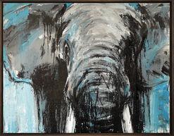 "Bild ""Elefant 73"" (2016) (Unikat)"