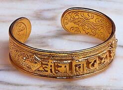 Tibetan armband, gold-plated version