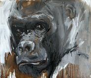 "Bild ""Gorilla 49"" (2015) (Unikat)"