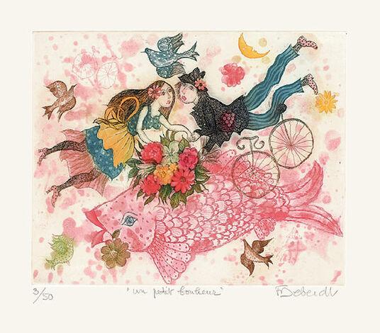 "Françoise Deberdt: Bild ""Un petit bonheur (Ein kleines Glück)"" (2010), ungerahmt"