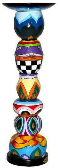 Thomas Hoffmann / Tom's Drag: Kerzenleuchter rund (große Version, Höhe 41 cm)