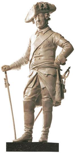 """Johann Gottfried Schadow: Sculpture """"Der Alte Fritz"""", art casting"""