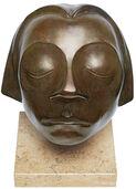 """Skulptur """"Kopf des Güstrower Ehrenmals"""", Reduktion in Bronze"""