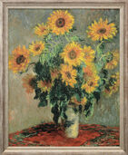 "Painting ""Sunflowers"" (1880), framed"
