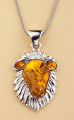 "Amber Necklace ""Leo"""