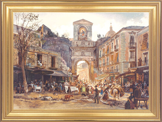 "Painting ""Porta Capuana in Naples"""