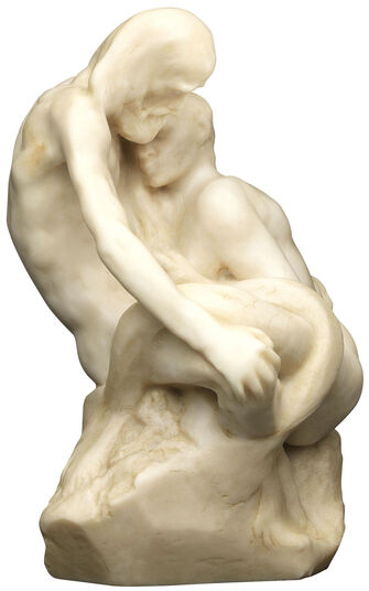 "Auguste Rodin: Sculpture ""Glaucus"" artificial marble edition"