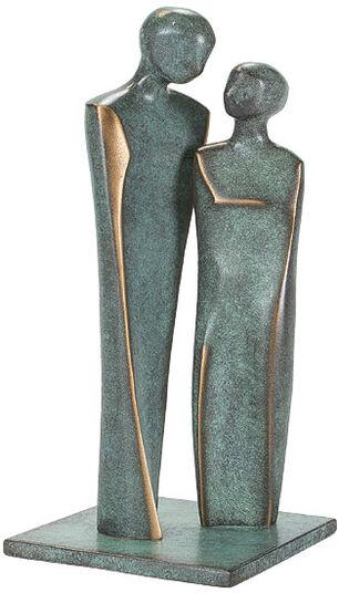 """Luise Kött-Gärtner: Skulptur """"Verliebtes Paar"""", Bronze"""