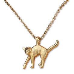 """Necklace gilded """"The enamored cat"""" edition"""