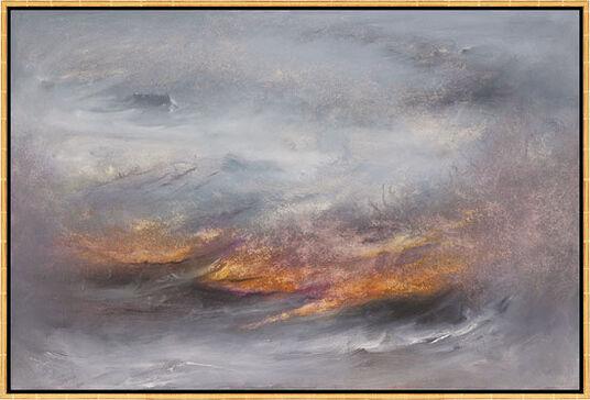 """Susann Ohlendorf: Bild """"La mer sauvage"""" (2010), gerahmt"""