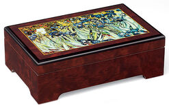 "Musical jewelry box ""Irises"" - after Vincent van Gogh"