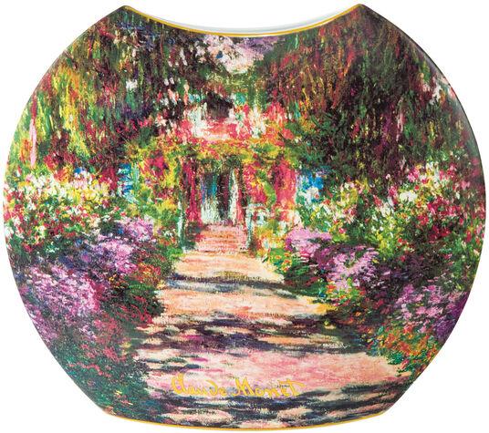 """Claude Monet: Porzellanvase """"Garten in Giverny"""" mit Golddekor, große Version"""