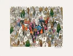 """Bild """"Fête des voisins"""" (2009), ungerahmt"""