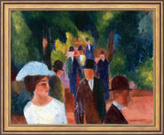 "Painting ""Promenade (with white girl in half figure)"", 1914 in museum framing"