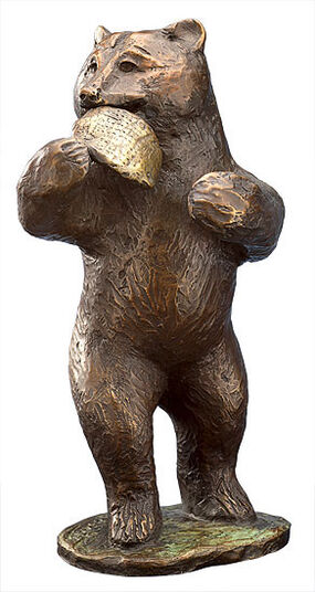 Kurt Arentz: Sculpture 'Honey Bear', bronze