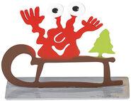 """Weihnachtsmonster """"Schlitten mit dem Weihnachtsbaum"""""""