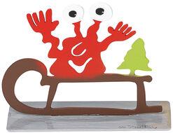 """Christmas Monster """"Sledge with the Christmas Tree"""""""