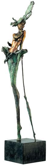"""Marc van Megen: Skulptur """"When the lady smiles"""" (1995), Bronze"""