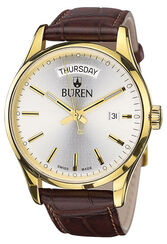 BÜREN Edition 1962 Day Date, vergoldet