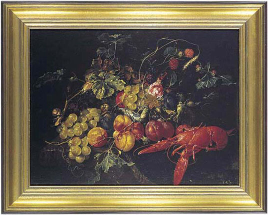 "Cornelis de Heem: Picture ""Still life with fruit and lobster"""