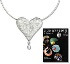 """Necklace""""Bleeding Heart"""" - with artist's book"""