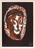"""Bild """"Mykenisches Lächeln 5 (braun-hellbraun)"""" (1986/2013)"""