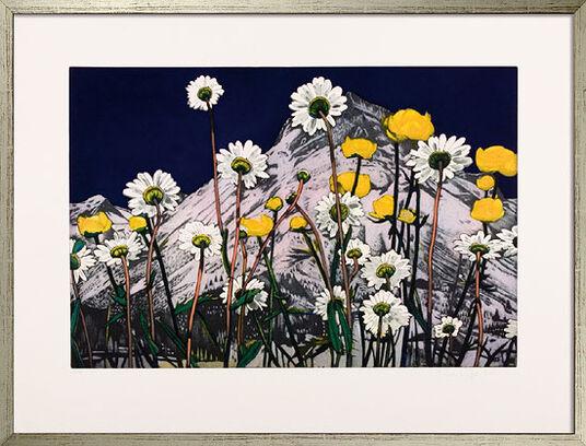 """Karin Kneffel: Bild """"Blumen"""" (2007), gerahmt"""
